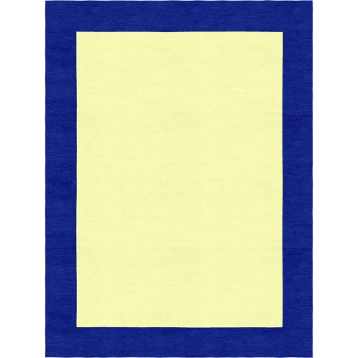 Henley Hand-Tufted Navy Blue Yellow HENBORYGNVB Border Rug 5' X 8'