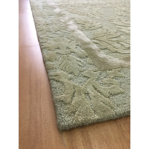 Handmade Wool/ Viscose Floral Green 5x8 lt1007 Area Rug