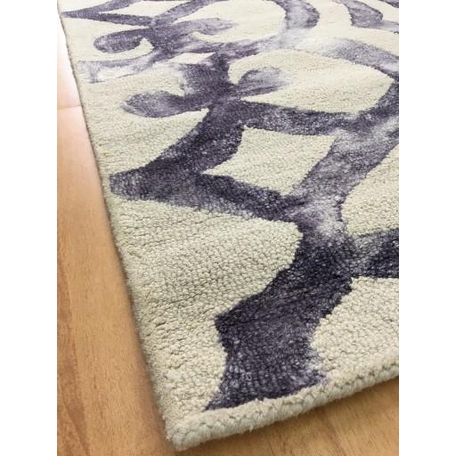 Handmade Wool Modern Ivory/ Purple 5x8 lt1012 Area Rug