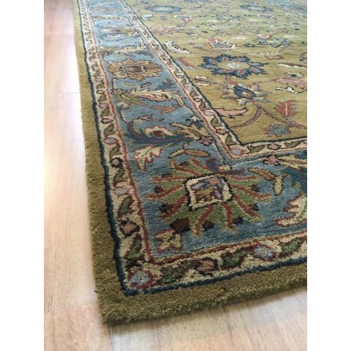 Handmade Wool Persian Gold/ Blue 5x8 lt1014 Area Rug