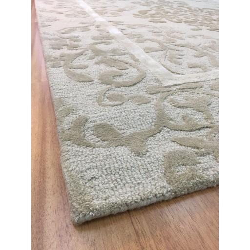 Handmade Wool/ Viscose Persian Ivory/ Beige 5x8 lt1035 Area Rug