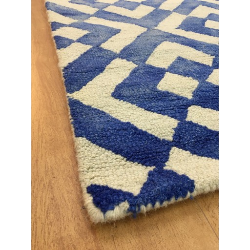 Handmade Wool Modern Blue/ Ivory 5x8 lt1041 Area Rug