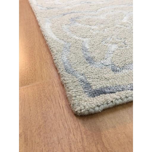 Handmade Wool Modern Beige/ Gray 5x8 lt1042 Area Rug
