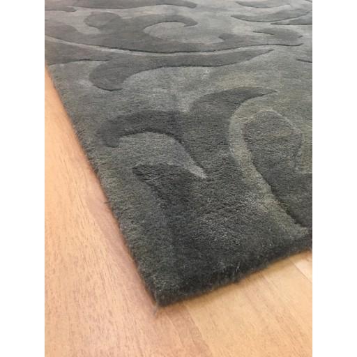 Handmade Wool Modern Gray/ Dark Gray 5x8 lt1047 Area Rug
