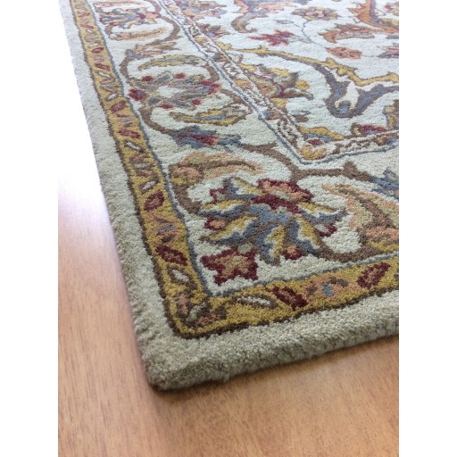 Handmade Wool Persian Beige/ Gold 5x8 lt1065 Area Rug