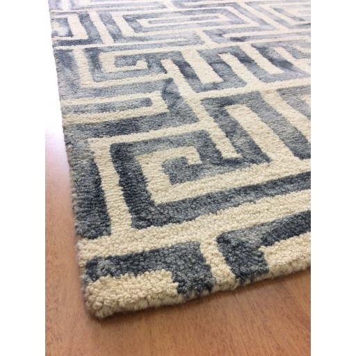 Handmade Wool Modern Ivory/ Gray 5x8 lt1066 Area Rug