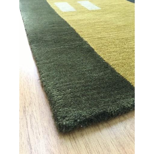 Handmade Wool Modern Gold/ Green 5x8 lt1075 Area Rug
