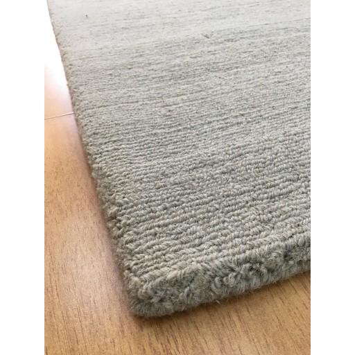Handmade Wool Solid Gray 5x8 lt1076 Area Rug