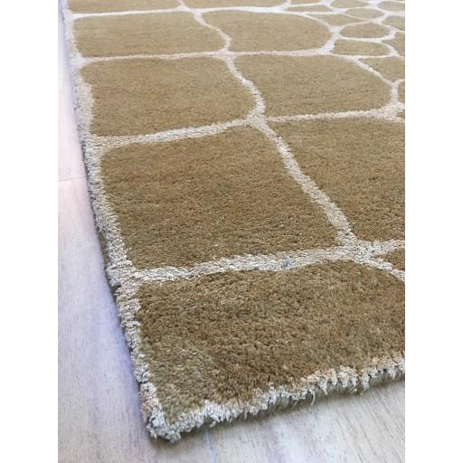 Handmade Wool Modern Brown 5x8 lt1099 Area Rug