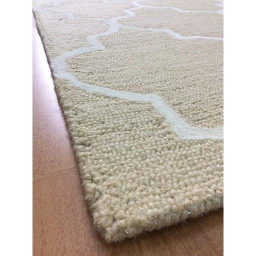 Handmade Wool Modern Beige/ Ivory 5x8 lt1130 Area Rug