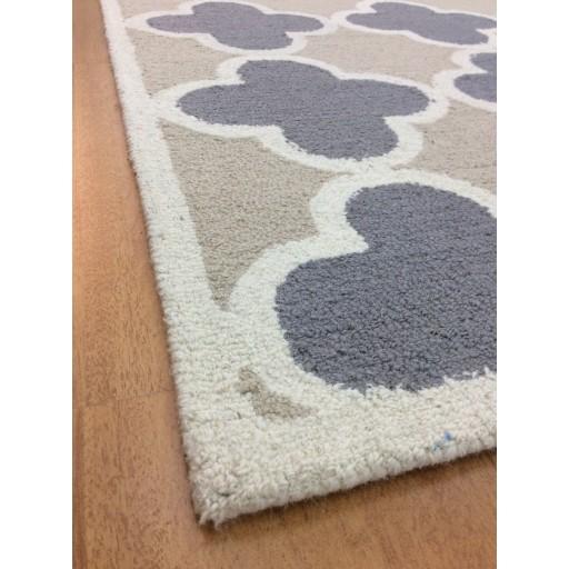 Handmade Wool Modern Gray/ Beige 5x8 lt1181 Area Rug