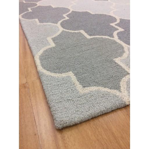 Handmade Wool Modern Silver/ Gray 5x8 lt1190 Area Rug