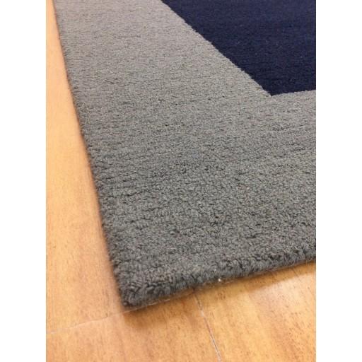 Handmade Wool Modern Blue/ Gray 5x8 lt1191 Area Rug