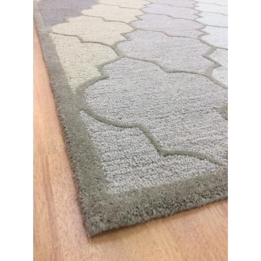 Handmade Wool Modern Beige/ Brown 5x8 lt1193 Area Rug
