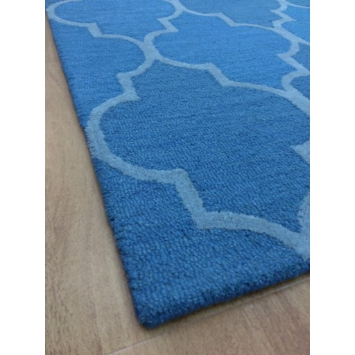 Handmade Wool Modern Blue/ Silver 5x8 lt1194 Area Rug