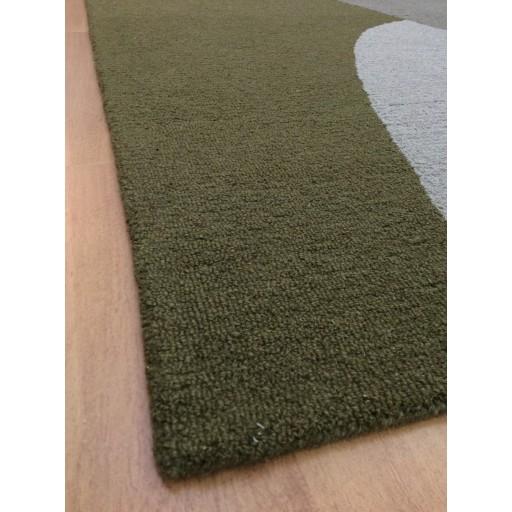 Handmade Wool Modern Green/ Ivory 5x8 lt1200 Area Rug