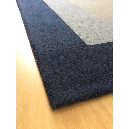 Handmade Wool Modern Blue/ Gray 5x8 lt1217 Area Rug