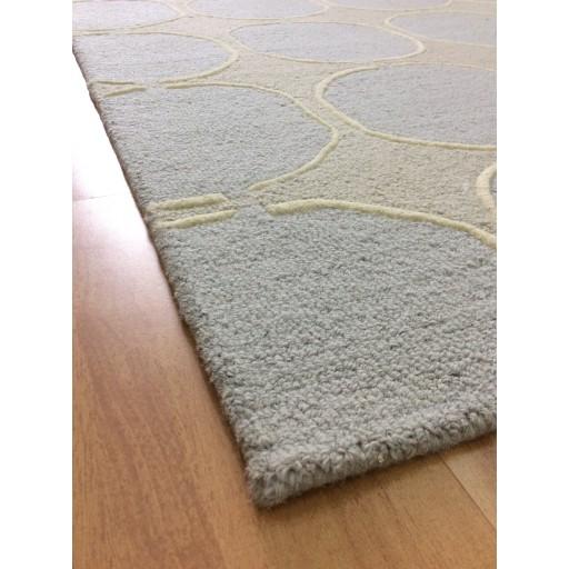 Handmade Wool Modern Ivory/ Gray 5x8 lt1261 Area Rug