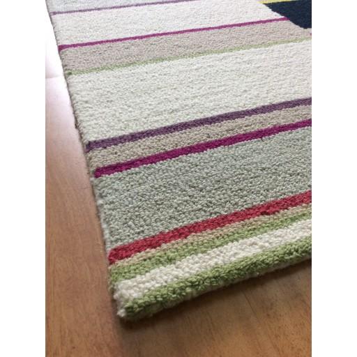 Handmade Wool Modern Ivory/ Gray 5x8 lt1352 Area Rug