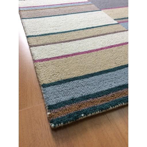 Handmade Wool Modern Ivory/ Gray 5x8 lt1355 Area Rug