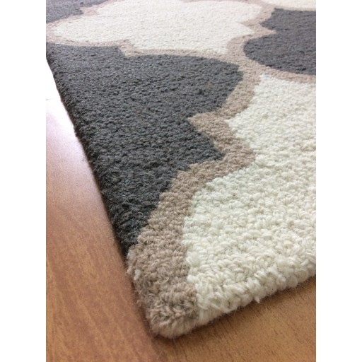 Handmade Wool Modern Ivory/ Gray 5x8 lt1375 Area Rug