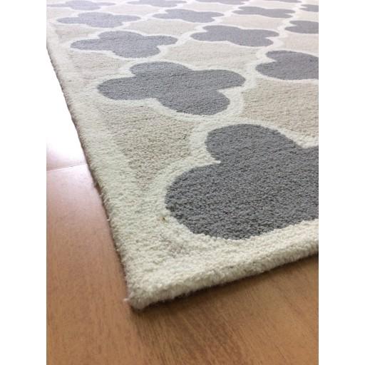 Handmade Wool Modern Ivory/ Gray 5x8 lt1383 Area Rug