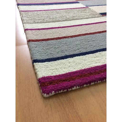 Handmade Wool Modern Ivory/ Silver 5x8 lt1385 Area Rug