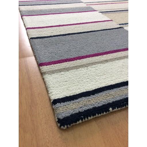 Handmade Wool Modern Ivory/ Silver 5x8 lt1464 Area Rug