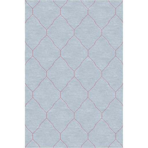 Katherine TS3001 Grey/Pink Rug