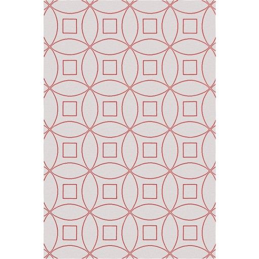 Tanesha TS3002 Beige/Red Contemporary Hand-Tufted Rug