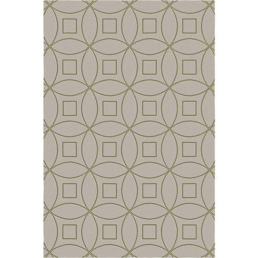 Tanesha TS3002 Brown/Green Contemporary Hand-Tufted Rug