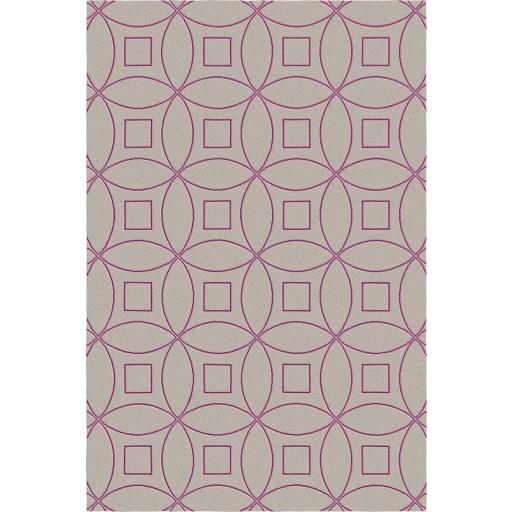 Tanesha TS3002 Brown/Purple Contemporary Hand-Tufted Rug