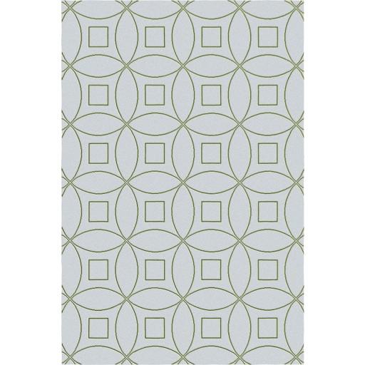 Tanesha TS3002 Light Grey/Green Contemporary Hand-Tufted Rug