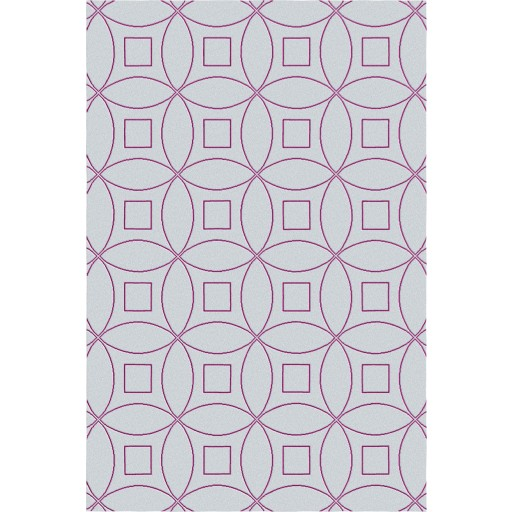 Tanesha TS3002 Light Grey/Purple Contemporary Hand-Tufted Rug