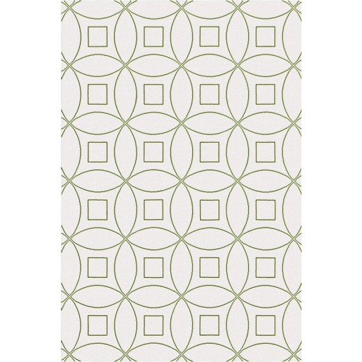 Tanesha TS3002 Oatmeal/Green Contemporary Hand-Tufted Rug