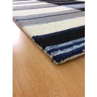 Handmade Wool Modern Ivory/ Gray 5x8 lt1585 Area Rug
