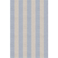 Handmade Silver Light Blue VSAE12BP11 Stripe Rugs 5'X8'