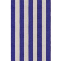 Handmade Silver Indigo VSAE12EK03 Stripe Rugs 6'X9'