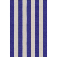 Handmade Silver Indigo VSAE12EK03 Stripe Rugs 8'X10'