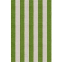 Handmade Silver Green VSAE12CL03 Stripe Rugs5'X8'