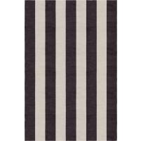 Handmade Silver Charcoal VSAE12AA05 Stripe Rugs 5'X8'