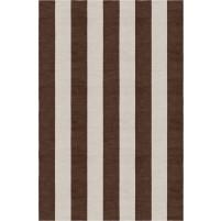 Handmade Silver Brown VSAE12AH01 Stripe Rugs 6'X9'