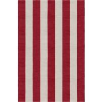 Handmade Silver Wine Red VSAE12AP01 Stripe Rugs 5'X8'