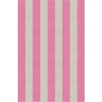 Handmade Silver Pink VSAE12AK07 Stripe Rugs 9'X12'