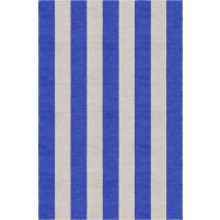 Handmade Silver Blue VSAE12BJ06 Stripe Rugs 5'X8'