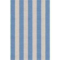 Handmade Silver Aqua VSAE12BI08 Stripe Rugs 6'X9'