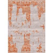 Nahla Handloom Silver Beige / Tuscany Rust Rug