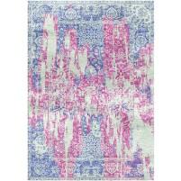 Viola Pink / Wild Blue Yonder Silken Modern 8x10 Rug