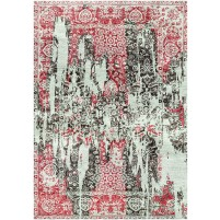 Old Brick / Flint Grey Silken Modern 8x10 Rug