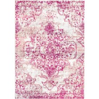 Blush Purple / Wafer Ivory Silken Modern 6x6 Round Rug